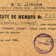 1945 - Vrabie A. - Clubul Junior